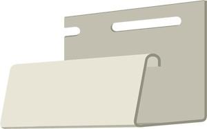 Фасадный J-профиль 30 мм. Слоновая кость