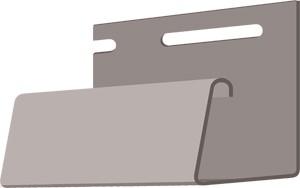 Фасадный J-профиль 30 мм. Дымчатый