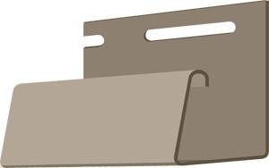 Фасадный J-профиль 30 мм. Бежевый