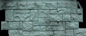 Панели «Камень дикий». Серо-Зелёный