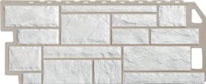 Панели «Камень». Мелованный белый