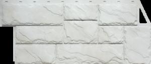 Панели «Камень крупный». Мелованный белый