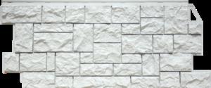 Панели «Камень дикий». Мелованный белый