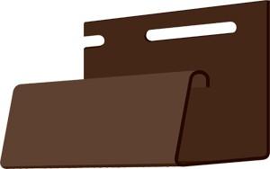 Фасадный J-профиль 30 мм. Шоколад