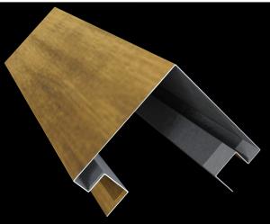 Планка угла внешнего для металлосайдинга «Бревно»